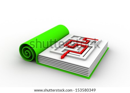 Way out of the labyrinth - stock photo