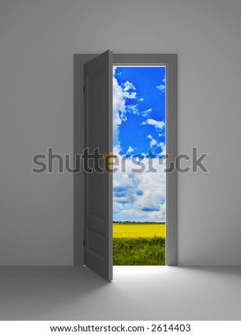 way to another world - stock photo