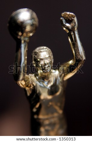 Way to go! basketball trophy - stock photo
