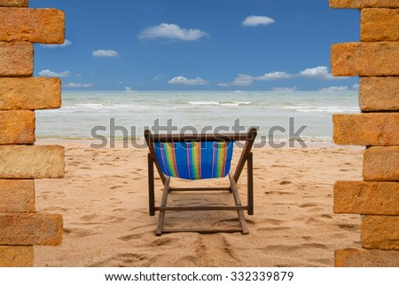 Way to new world. New life concept on the beach - stock photo
