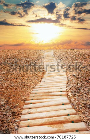 Way to sky. Nature composition. Element of design. - stock photo