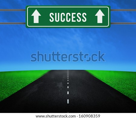 Way to Succcess - stock photo