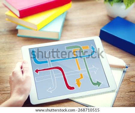 Ways Choices Decision Directions Intersection Concept - stock photo