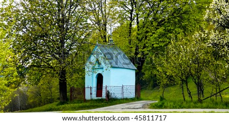 Wayside chapel - stock photo