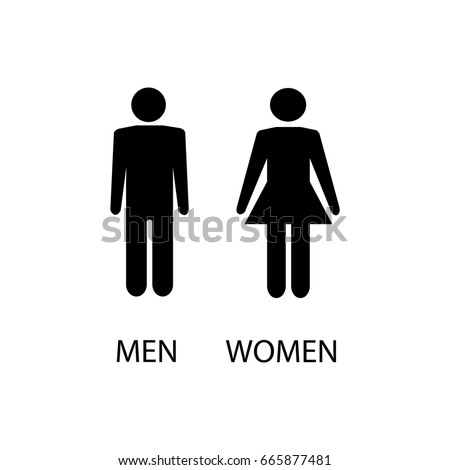 Bathroom Sign Man And Woman restroom sign stock images, royalty-free images & vectors