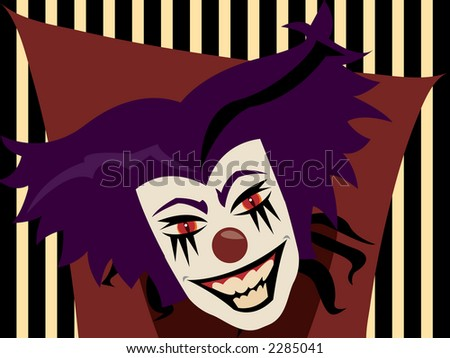 We all know clowns are PURE EVIL - stock photo