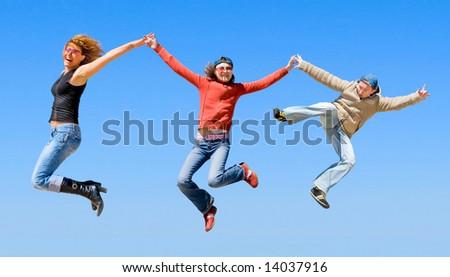 "we are happy -  of  ""Groups of people"" series in my portfolio - stock photo"