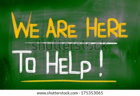 We Are Here To Help Concept - stock photo