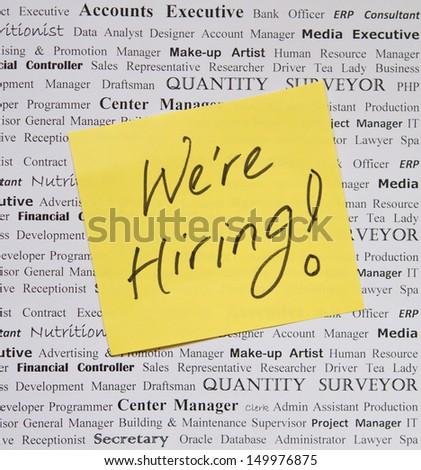 We are hiring! - stock photo