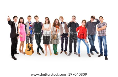 We are so different! We are so cool! - stock photo