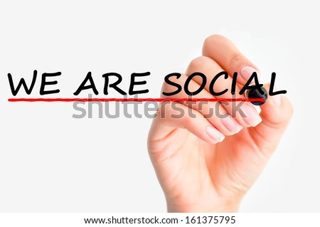 we are social concept - stock photo