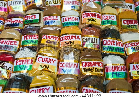 We can find all kind of spices at any Hanoi market.