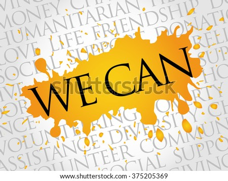 We Can, word cloud concept - stock photo