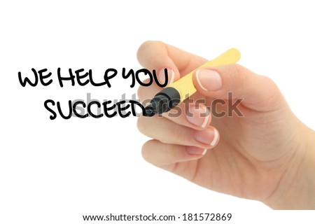 We help you succeed - stock photo