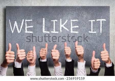 we like it - stock photo