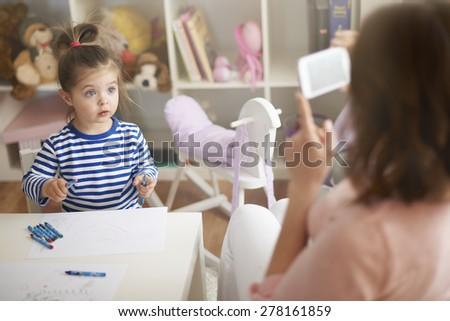 We'll send the picture to your daddy   - stock photo