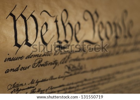 We the People - stock photo