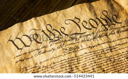 we the people from the opening section of the Constitution of the United States of America