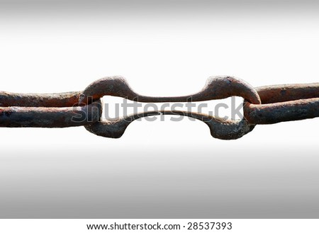 Weakest link - stock photo
