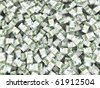 Wealth. Background from packs of euro. 3d - stock photo