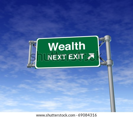 wealth Financial freedom rich independance Sign finances stocks