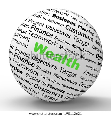 Wealth Sphere Definition Showing Fortune Savings Or Accounting Treasure