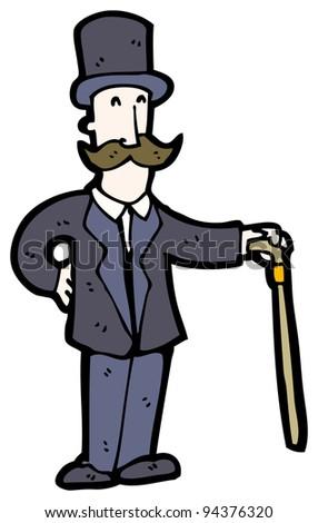 wealthy man cartoon (raster version) - stock photo