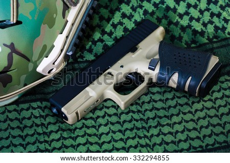 Weapon on background. - stock photo