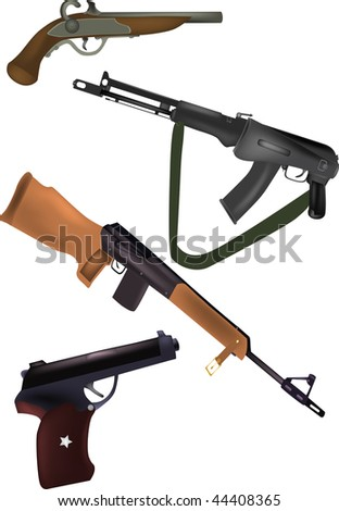 weapon pistols and fire-arms - stock photo