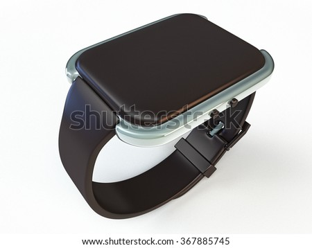 wearables smart watches isolated on white background
