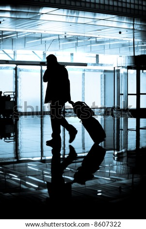 Weary Business Traveler - stock photo