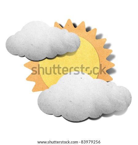 Weather grunge recycled papercraft - stock photo