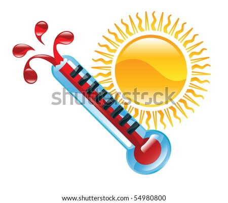 weather icon clipart boiling hot thermometer stock illustration rh shutterstock com animated hot weather clipart hot weather clipart images