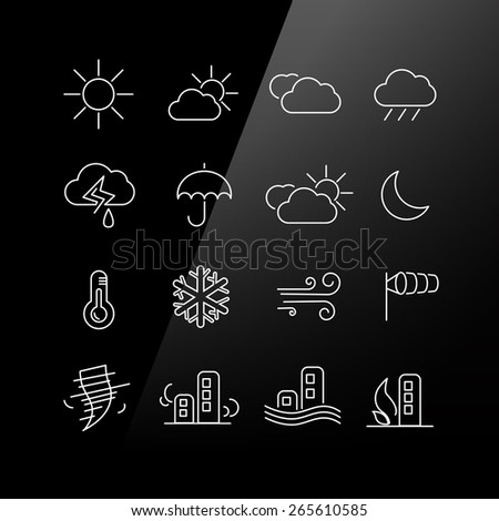 Weather icon set - Linear Series - stock photo