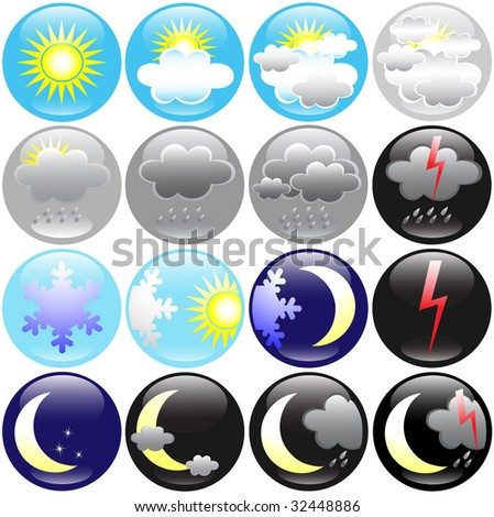 Weather icons. jpeg format. For vector version please see my port