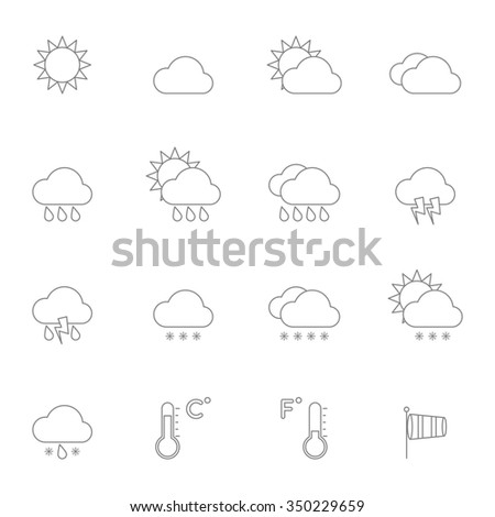 Weather Icons Line