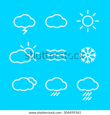 Weather Icons with blue Background  web Rasterized Copy - stock photo