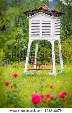 Weather shelter from a platform in Romania - stock photo