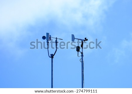 Weather station - stock photo