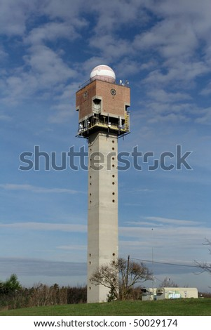 Weather tower - stock photo