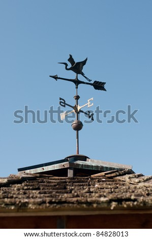 Weather Vane with Crane - stock photo