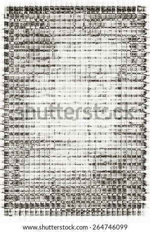 weathered abstract black and white grunge texture - stock photo