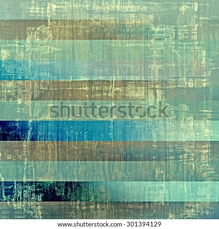 Weathered and distressed grunge background with different color patterns: brown; green; blue; cyan - stock photo
