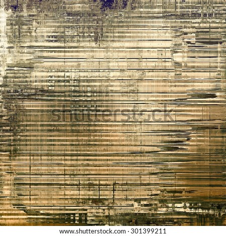 Weathered and distressed grunge background with different color patterns: yellow (beige); brown; gray; black - stock photo