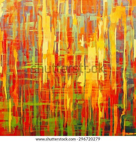 Weathered and distressed grunge background with different color patterns: yellow (beige); purple (violet); green; red (orange) - stock photo