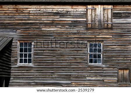 Weathered Barn Wall - stock photo