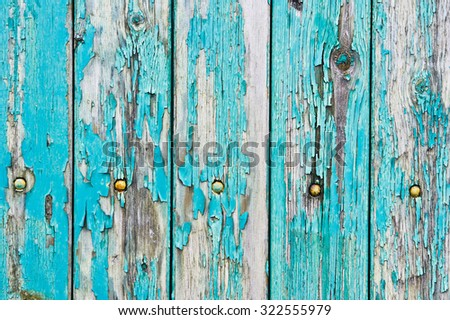 Weathered blue wood as a background - stock photo