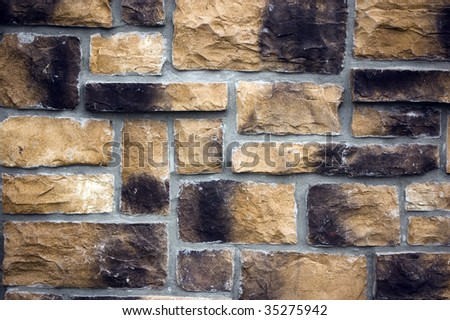 weathered brick wall / abstract grungy background