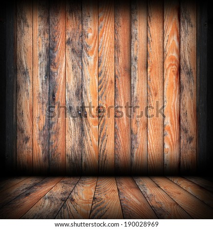 weathered  brown  planks on interior architectural empty backdrop ready foo your design, wood finishing