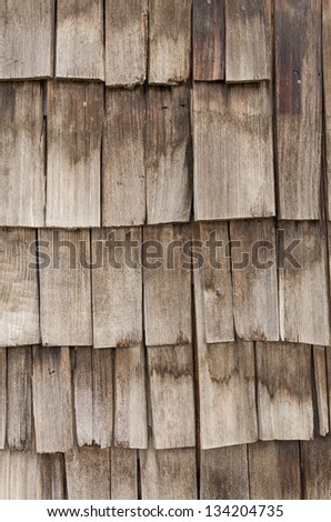 Weathered cedar shake shingles for use as a background - stock photo